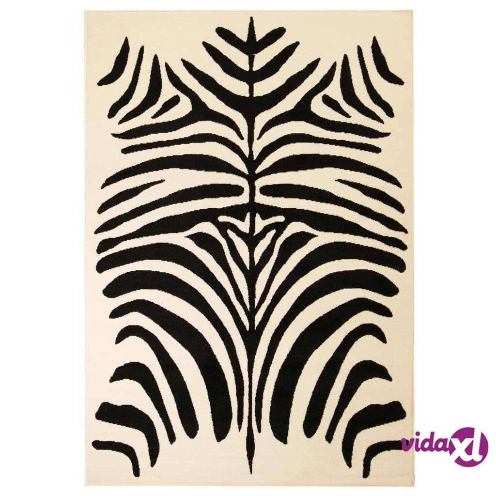 Image of vidaXL Moderni matto seeprakuvio 120x170 cm beige/musta