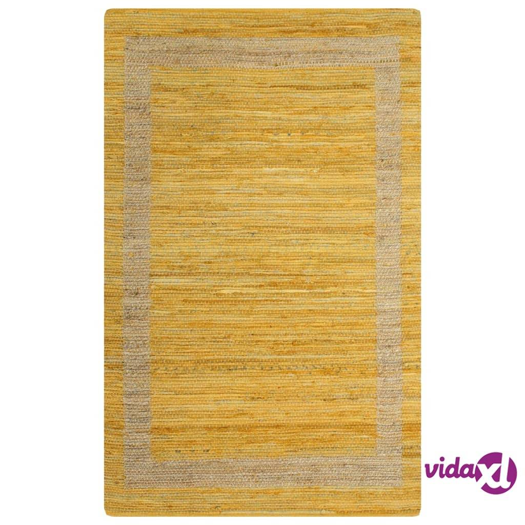 Image of vidaXL Käsintehty juuttimatto keltainen 160x230 cm