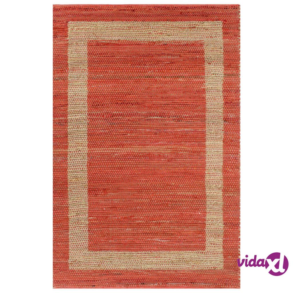 Image of vidaXL Käsintehty juuttimatto punainen 160x230 cm