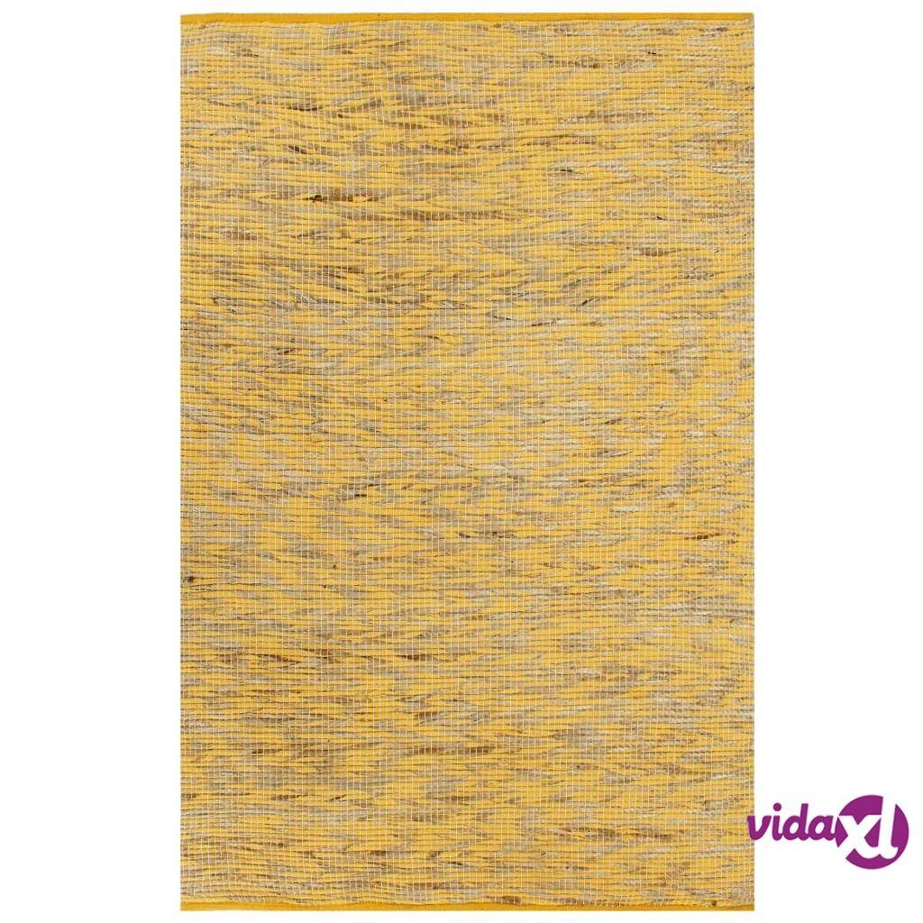 Image of vidaXL Käsintehty juuttimatto keltainen ja luonnollinen 160x230 cm