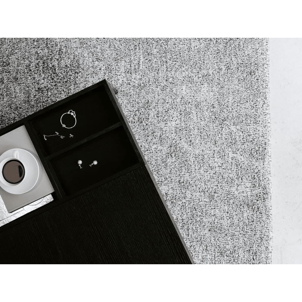 Beliani Ryijymatto mustavalkoinen 160x200 cm - DEMRE