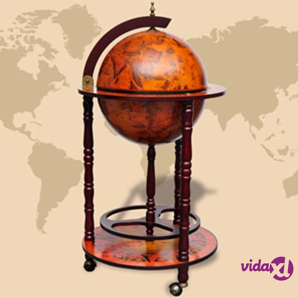 Image of vidaXL Karttapallon muotoinen baarikaappi puu