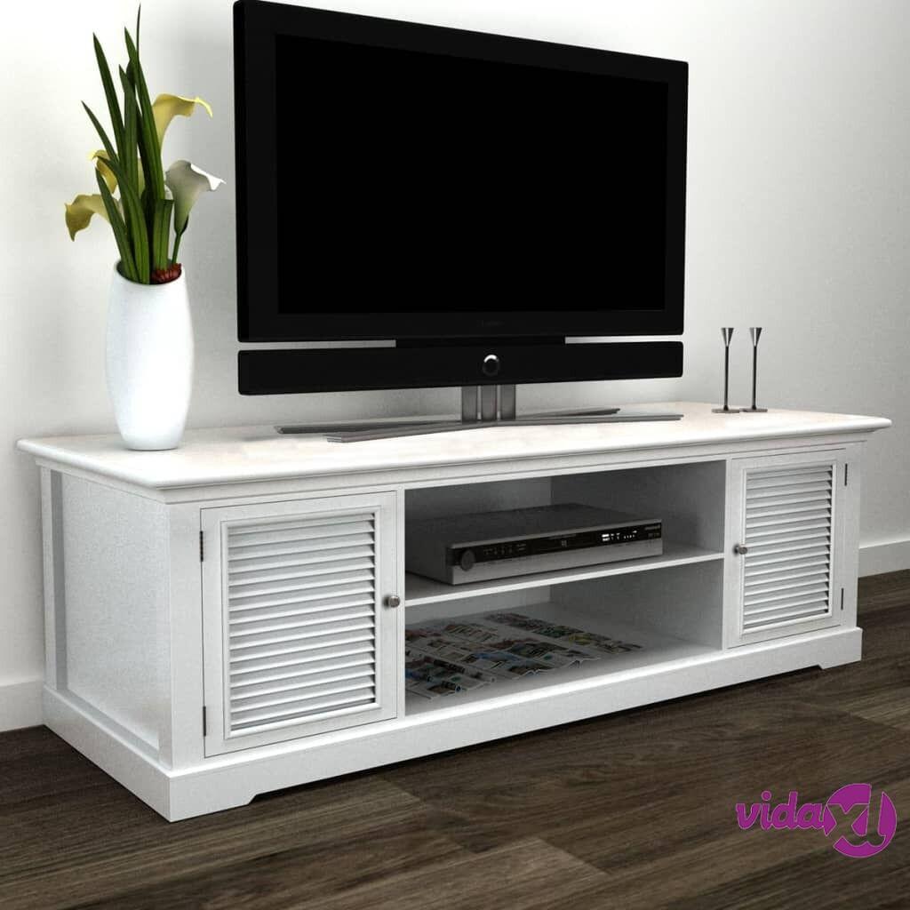 Image of vidaXL TV-taso puu valkoinen