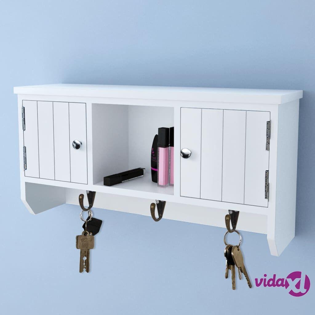 Image of vidaXL Seinäkaappi avaimille ja koruille, ovet ja koukut