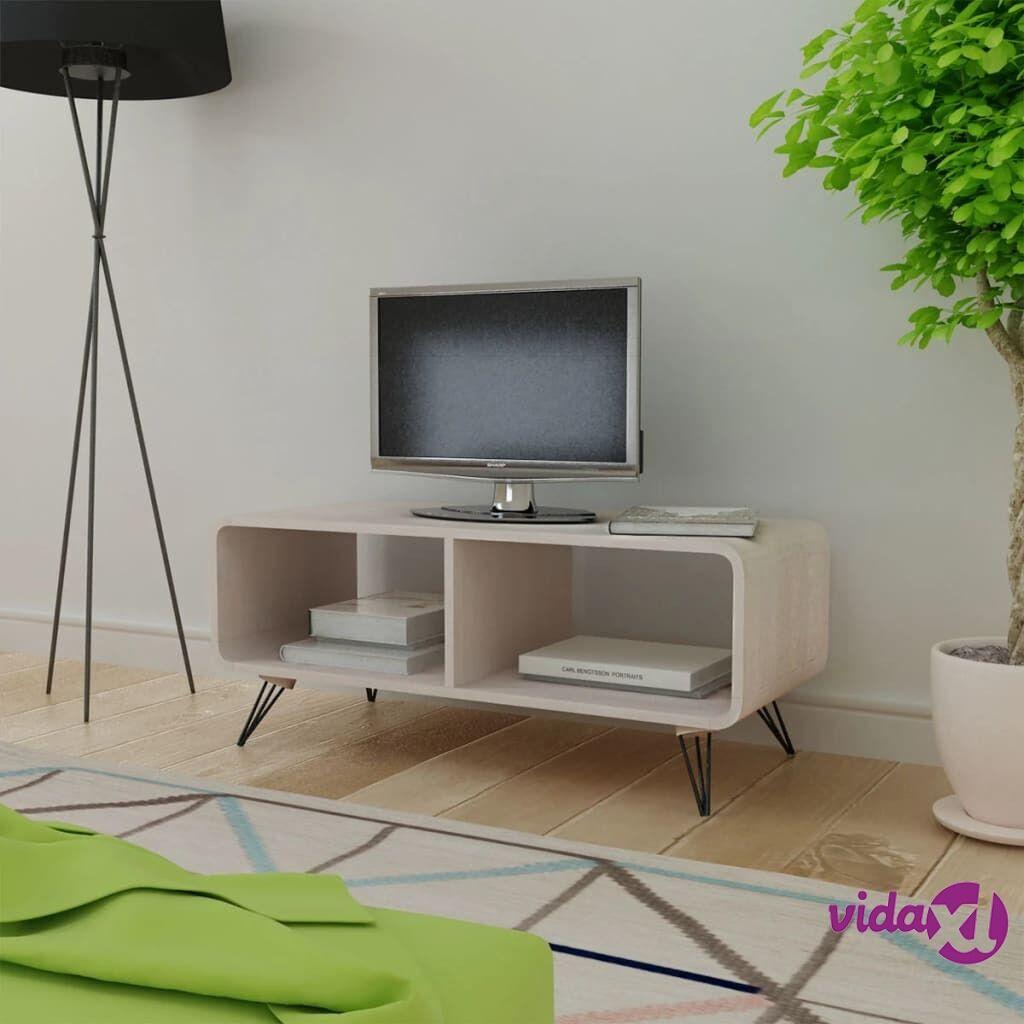 Image of vidaXL TV-taso 90x39x38,5 cm Puu Harmaa