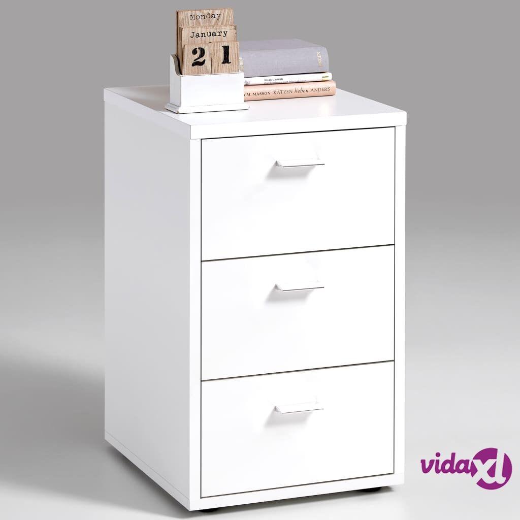 FMD Yöpöytä 3 laatikkoa valkoinen 642-001