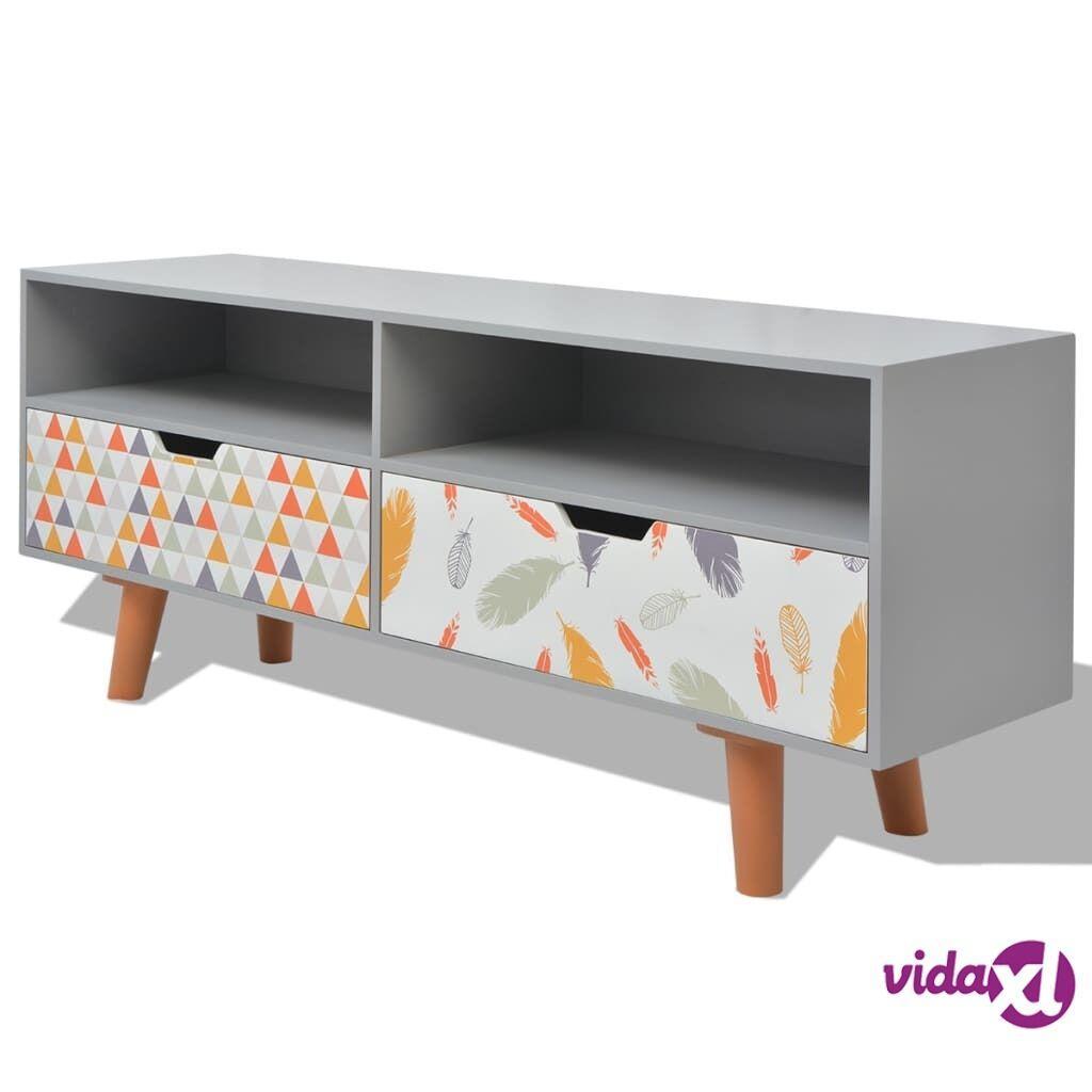vidaXL TV-taso MDF 120x30x50 cm Harmaa