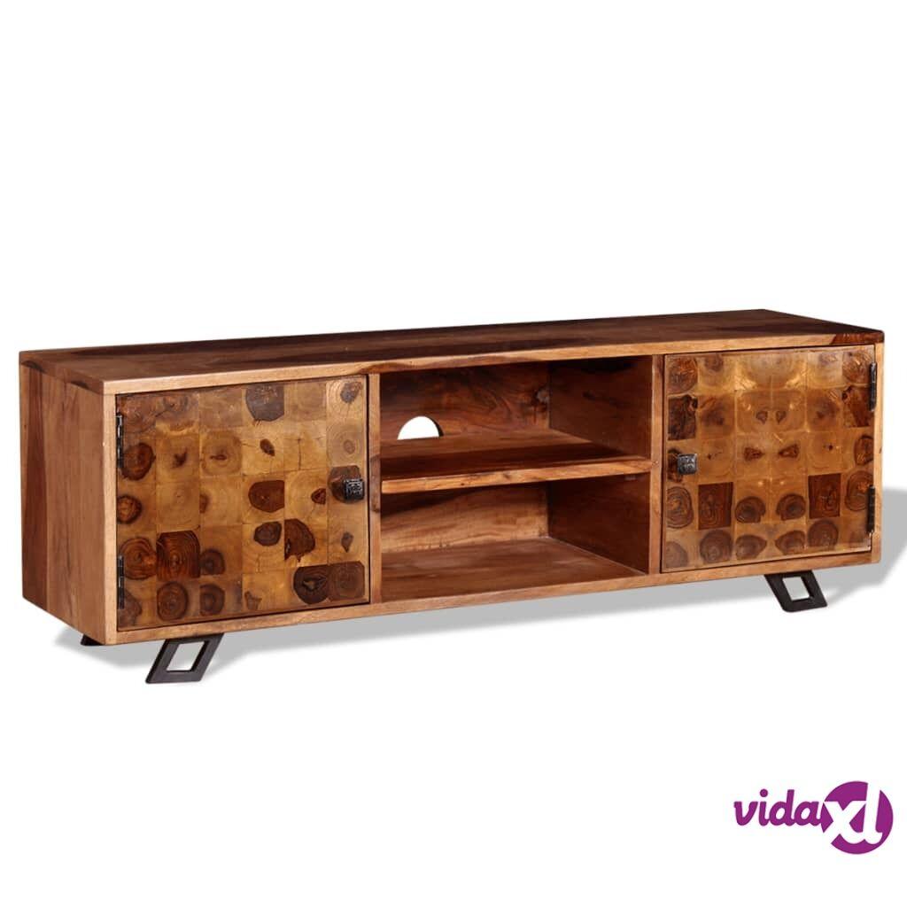 vidaXL TV-taso Täysi seesampuu 120x30x40 cm