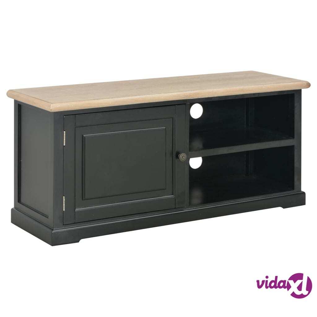vidaXL TV-taso musta 90x30x40 cm puu