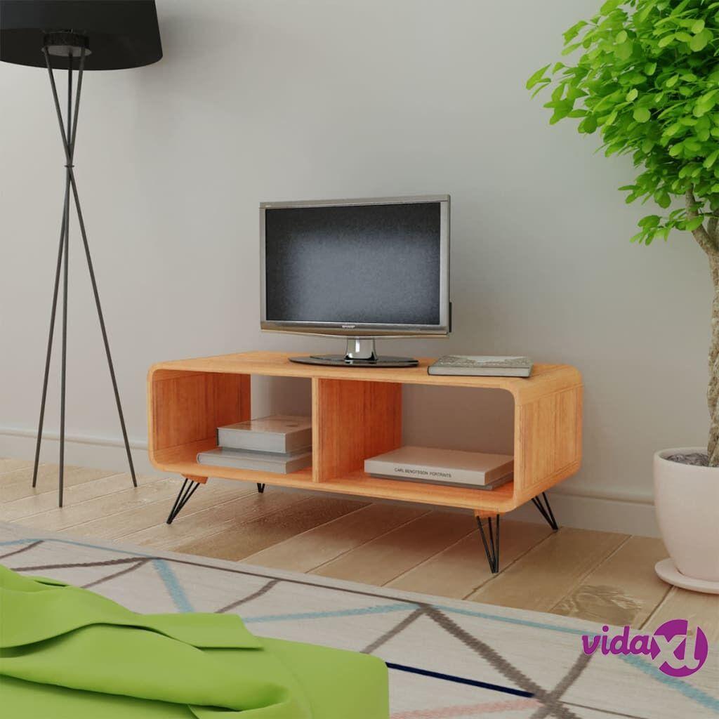 vidaXL TV-taso 90x39x38,5 cm Puu Ruskea