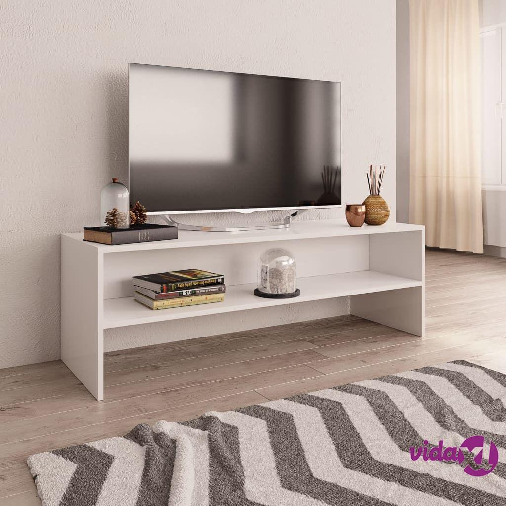 vidaXL TV-taso valkoinen 120x40x40 cm lastulevy