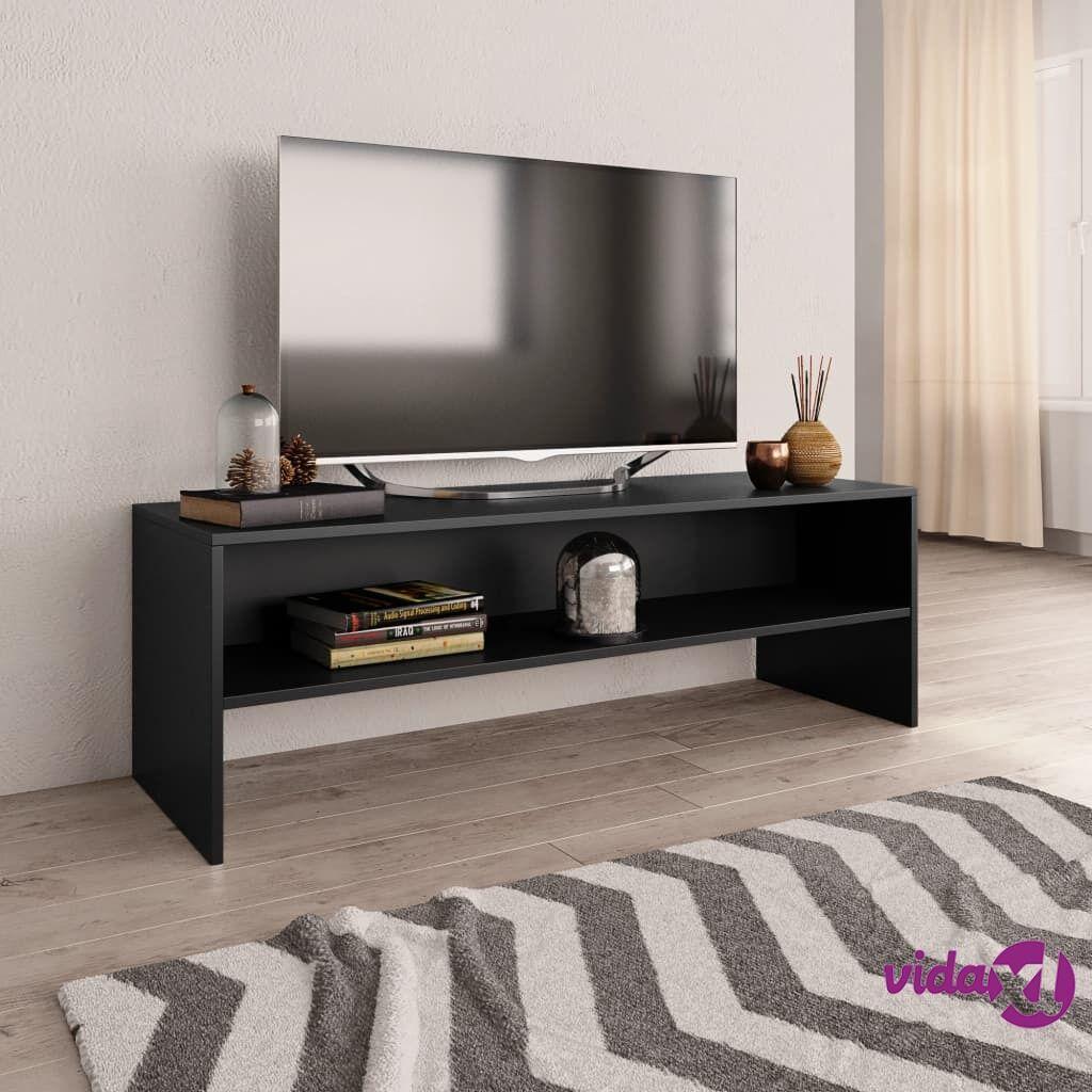 vidaXL TV-taso musta 120x40x40 cm lastulevy