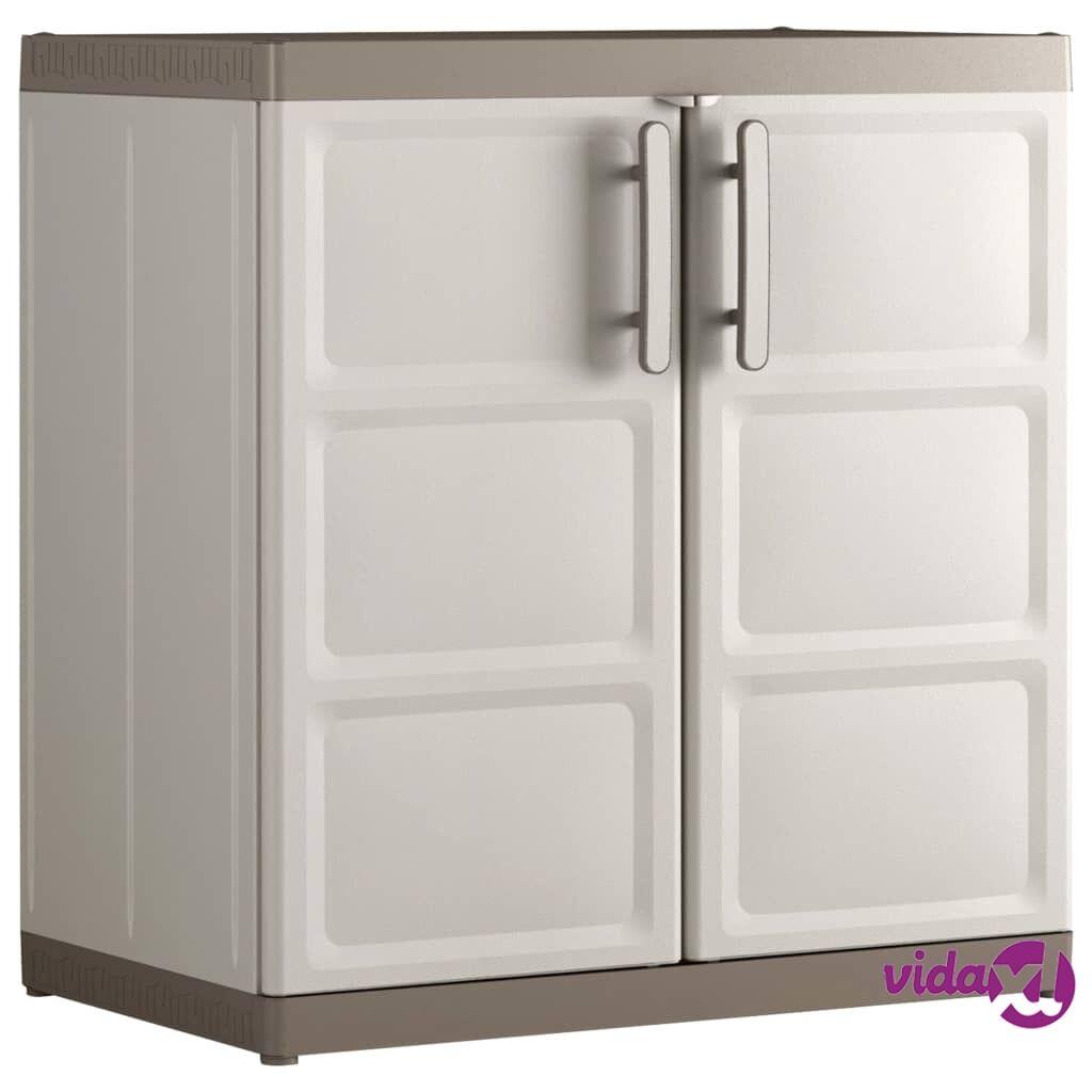 Keter Alakaappi Excellence XL beige ja ruskeanharmaa 89x54x93 cm
