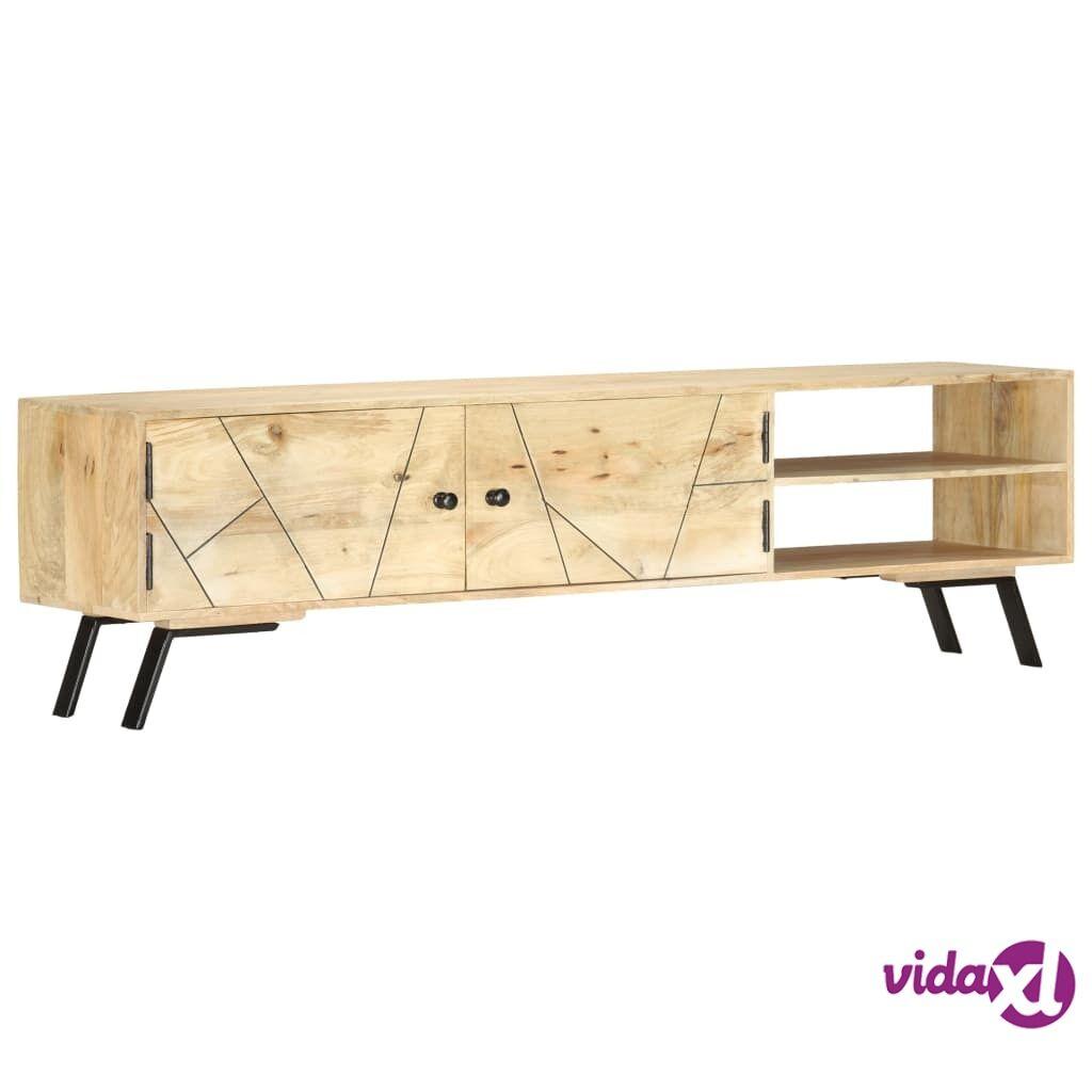 vidaXL TV-taso 140x30x40 cm täysi mangopuu