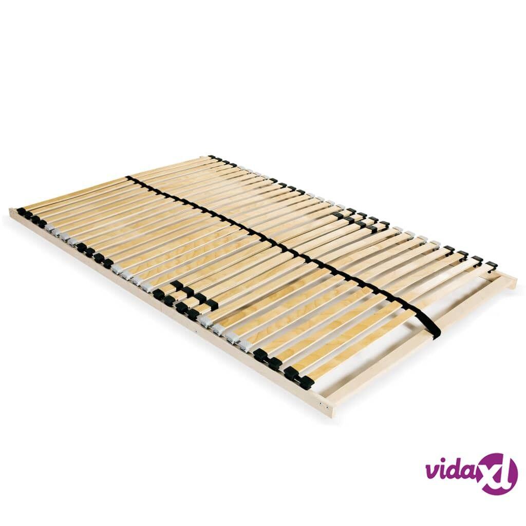 vidaXL Sängyn sälepohja 28 säleellä 7 osaa 100x200 cm