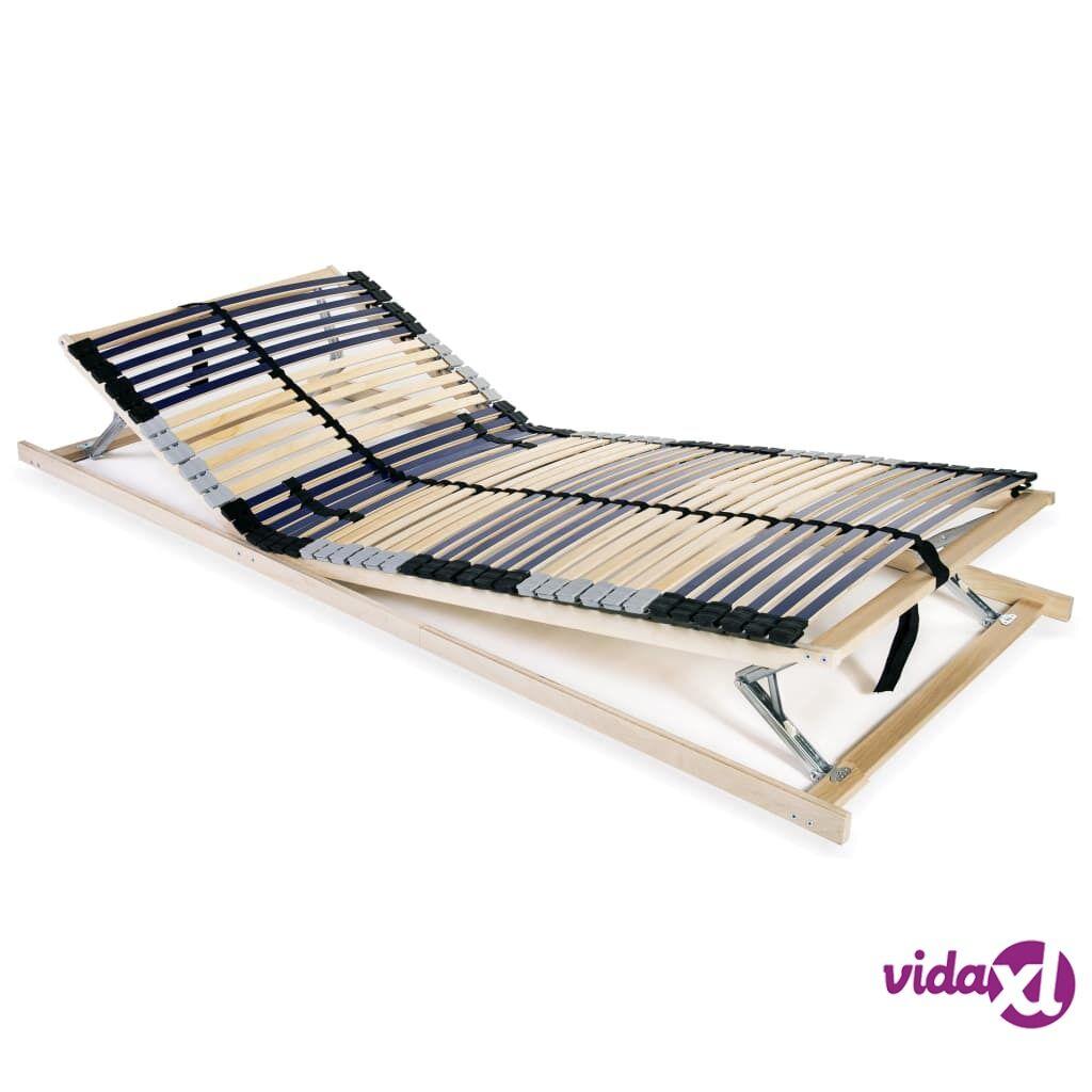 vidaXL Sängyn sälepohja 42 säleellä 7 vyöhykettä 90x200 cm FSC