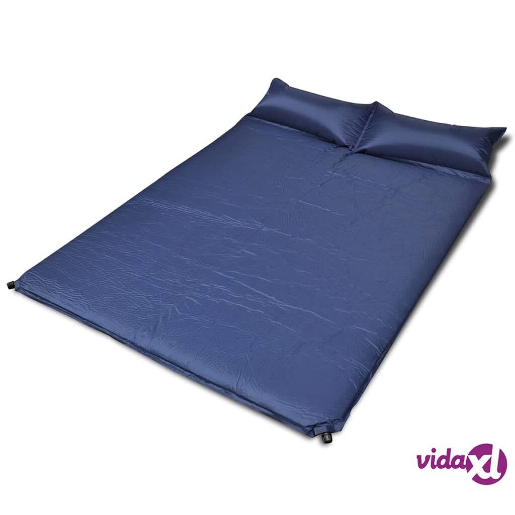 vidaXL Sininen Itsetäyttyvä Makuualusta 190 x 130 x 5 cm (Tupla)