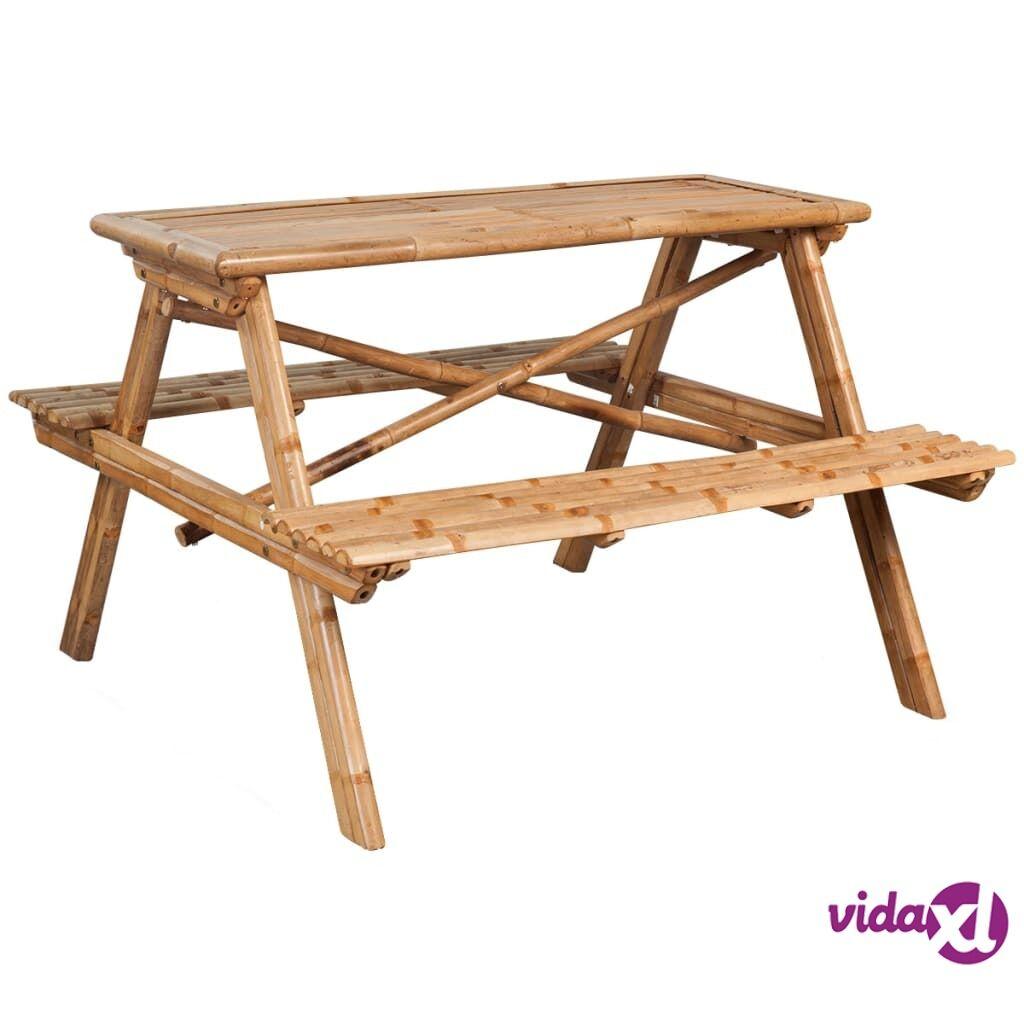 Image of vidaXL Piknikpöytä bambu 120x120x78 cm