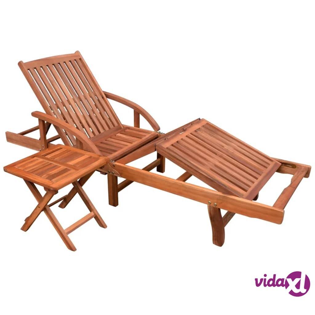 Image of vidaXL Aurinkotuoli ja pöytä akaasiapuu