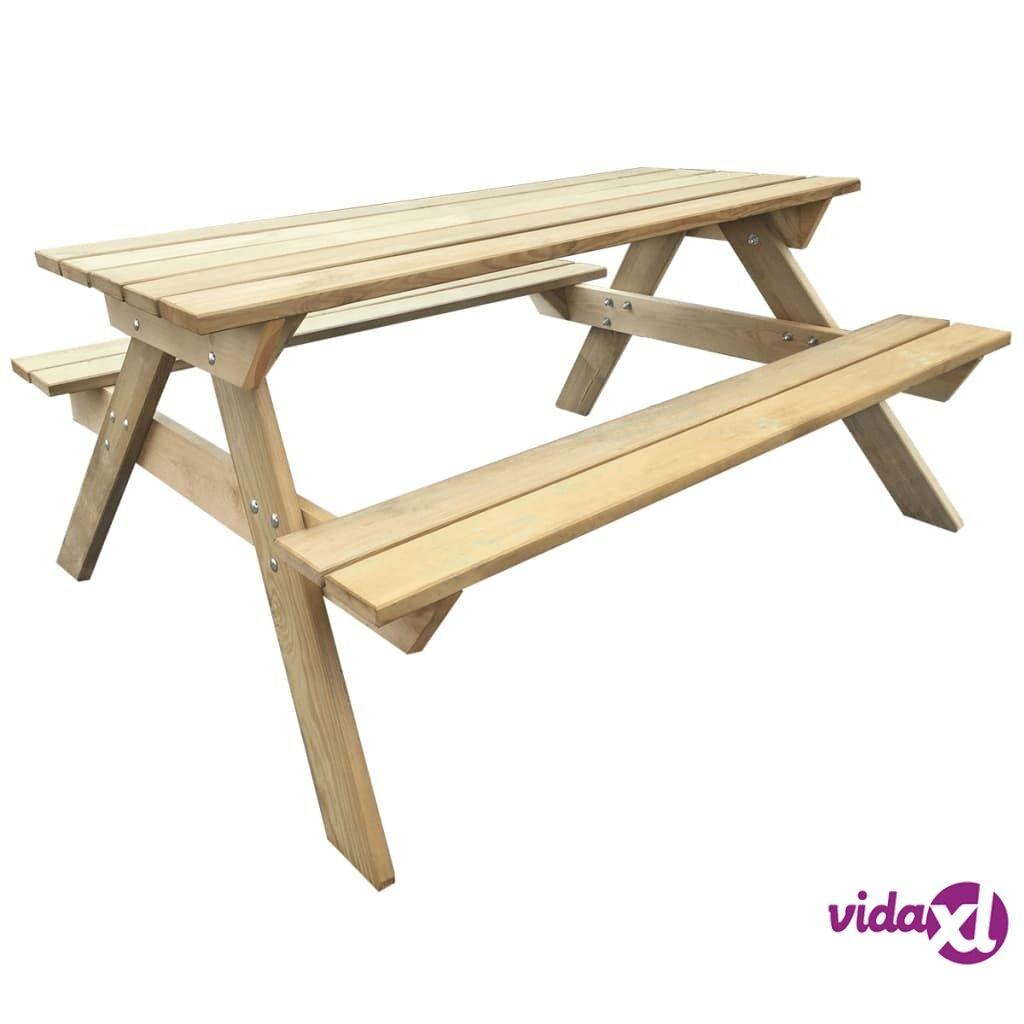 Image of vidaXL Piknikpöytä 150x135x71,5 cm FSC-puu