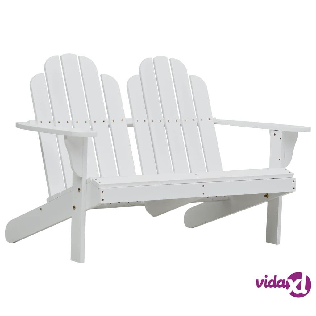 vidaXL Tupla Adirondack-tuoli puu valkoinen