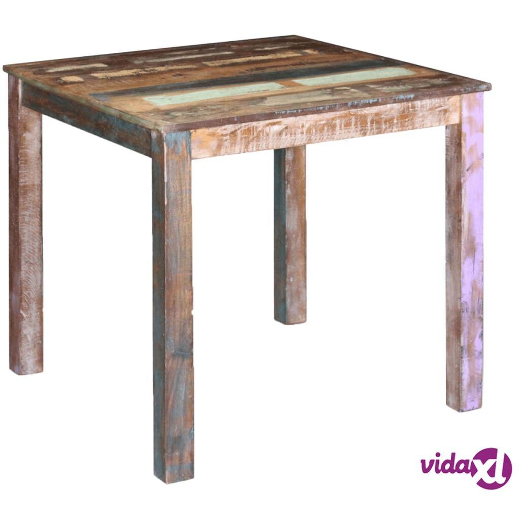 Image of vidaXL Ruokapöytä Täysi Uusiokäytetty Puu 80x82x76 cm