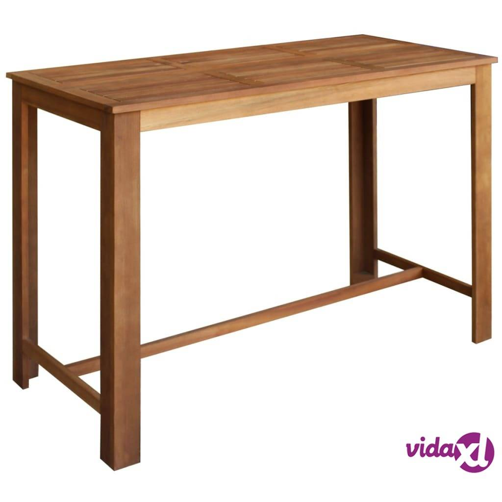 Image of vidaXL Baaripöytä 150x70x105 cm Täysi Akaasia Puu