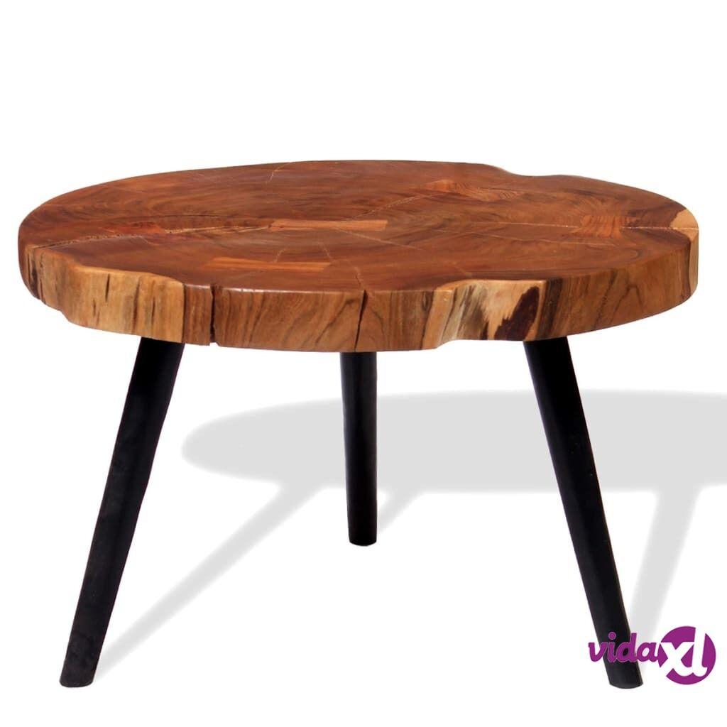 vidaXL Puunrunko-sohvapöytä Akaasiapuu (55-60) x40 cm
