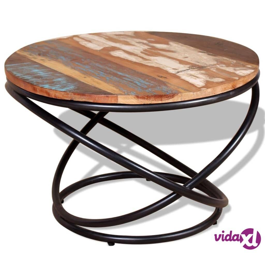 vidaXL Kahvipöytä Täysi Uusiokäytetty Puu 60x60x40 cm