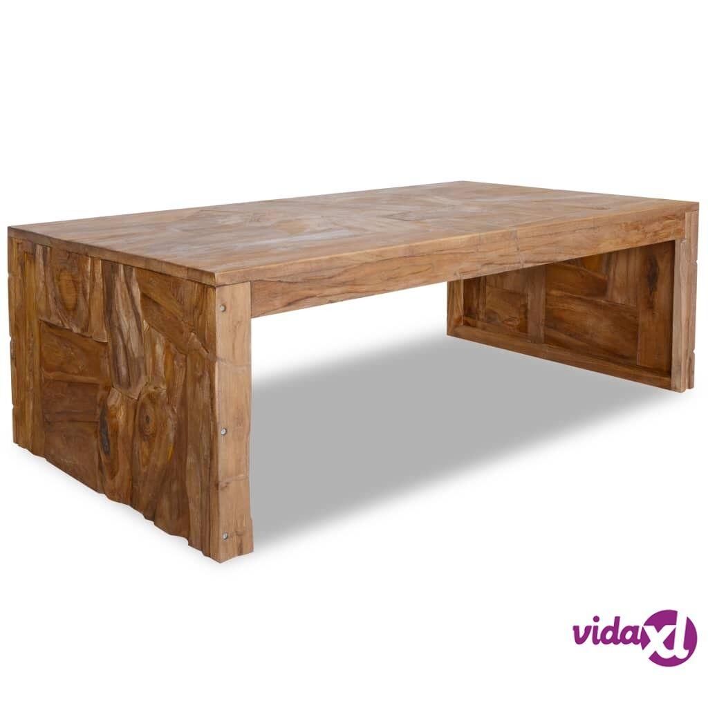Image of vidaXL Sohvapöytä teroosio tiikkipuu 110x60x38 cm