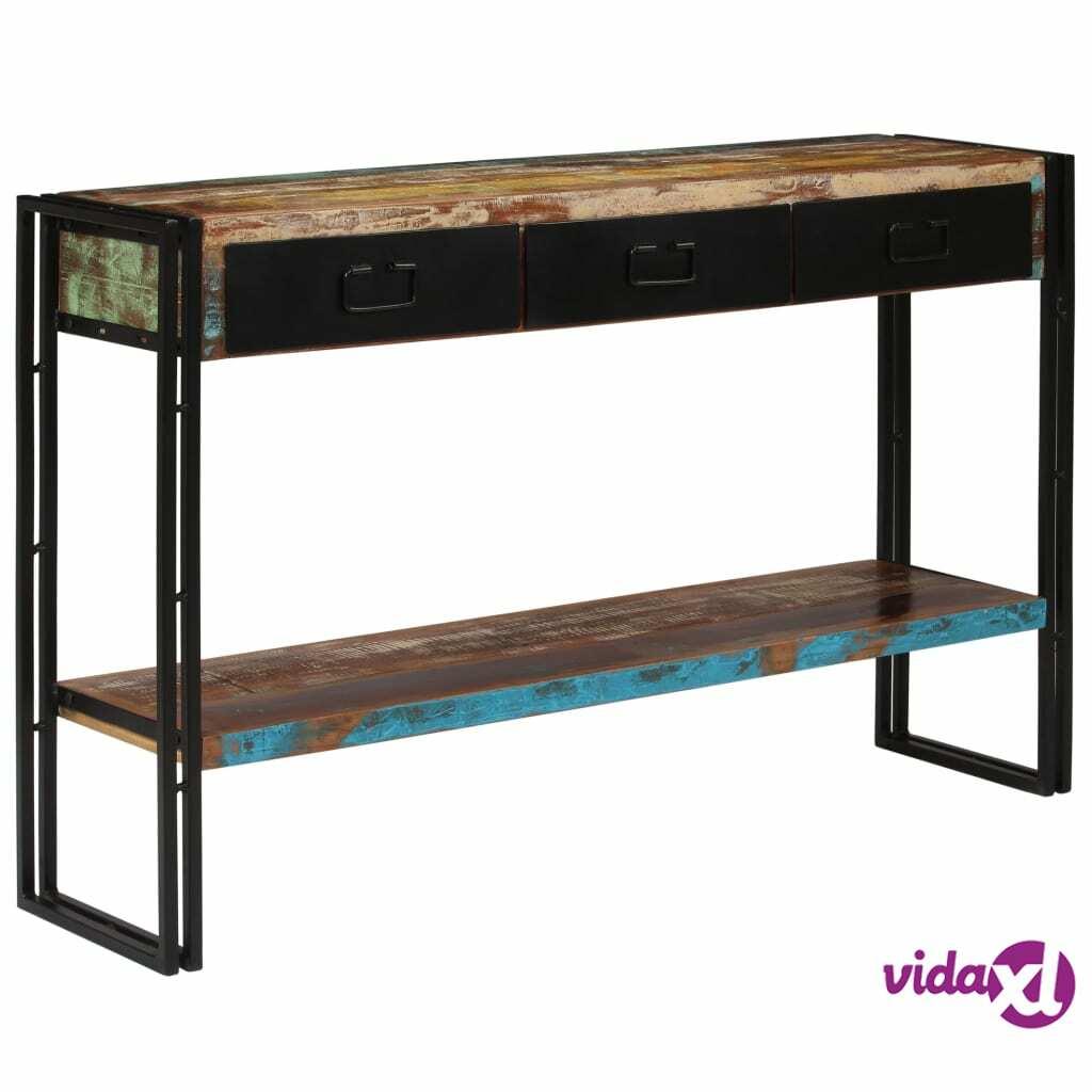 Image of vidaXL Konsolipöytä kierrätetty puu 120x30x76 cm