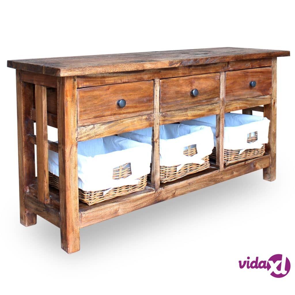 Image of vidaXL Tarjoilupöytä Täysi uusiokäytetty puu 100x30x50 cm