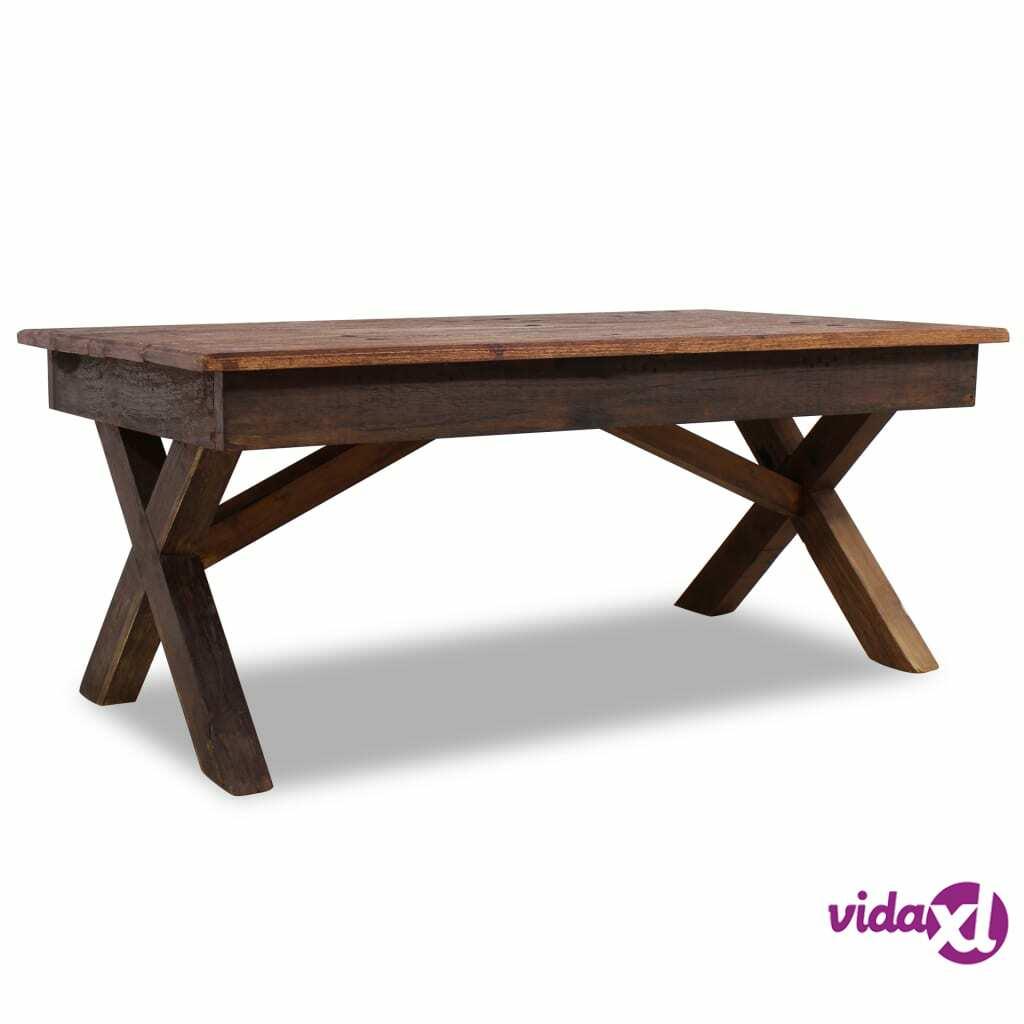 Image of vidaXL Sohvapöytä kiinteä kierrätetty puu 110x60x45 cm