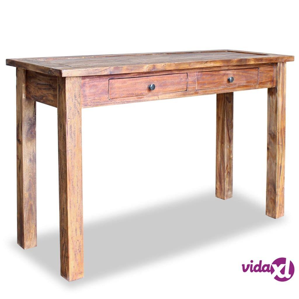 vidaXL Sivupöytä Kiinteä kierrätetty puu 123x42x75 cm