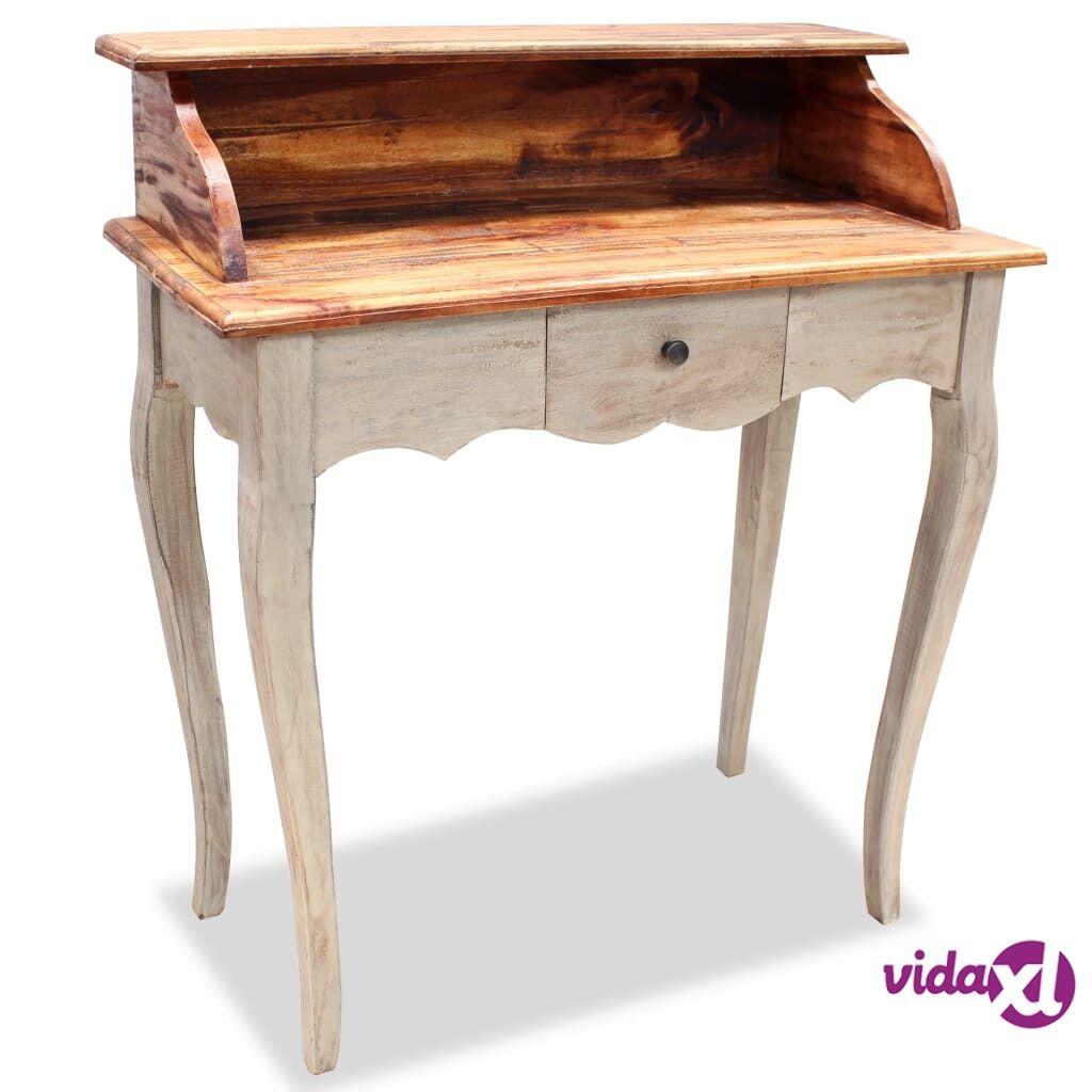 Image of vidaXL Kirjoituspöytä Kiinteä kierrätetty puu 80x40x92 cm