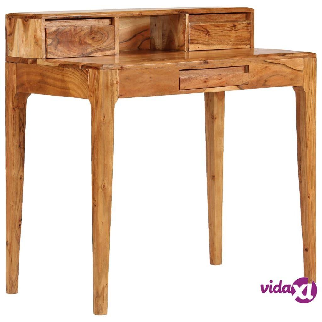 Image of vidaXL Kirjoituspöytä vetolaatikoilla kiinteä puu 88x50x90 cm