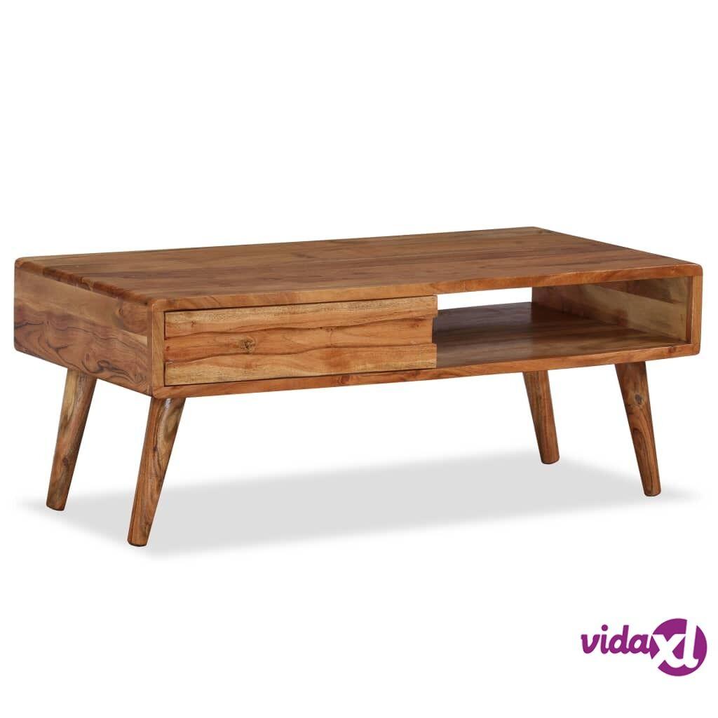 Image of vidaXL Sohvapöytä kaiverretulla vetolaatikolla puu 100x50x40 cm