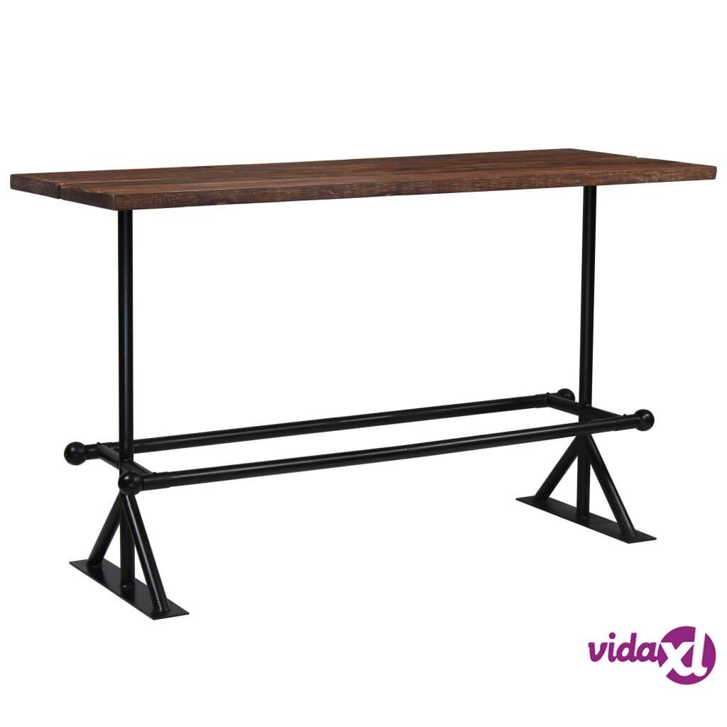 Image of vidaXL Baaripöytä kierrätetty puu tummanruskea 180x70x107 cm