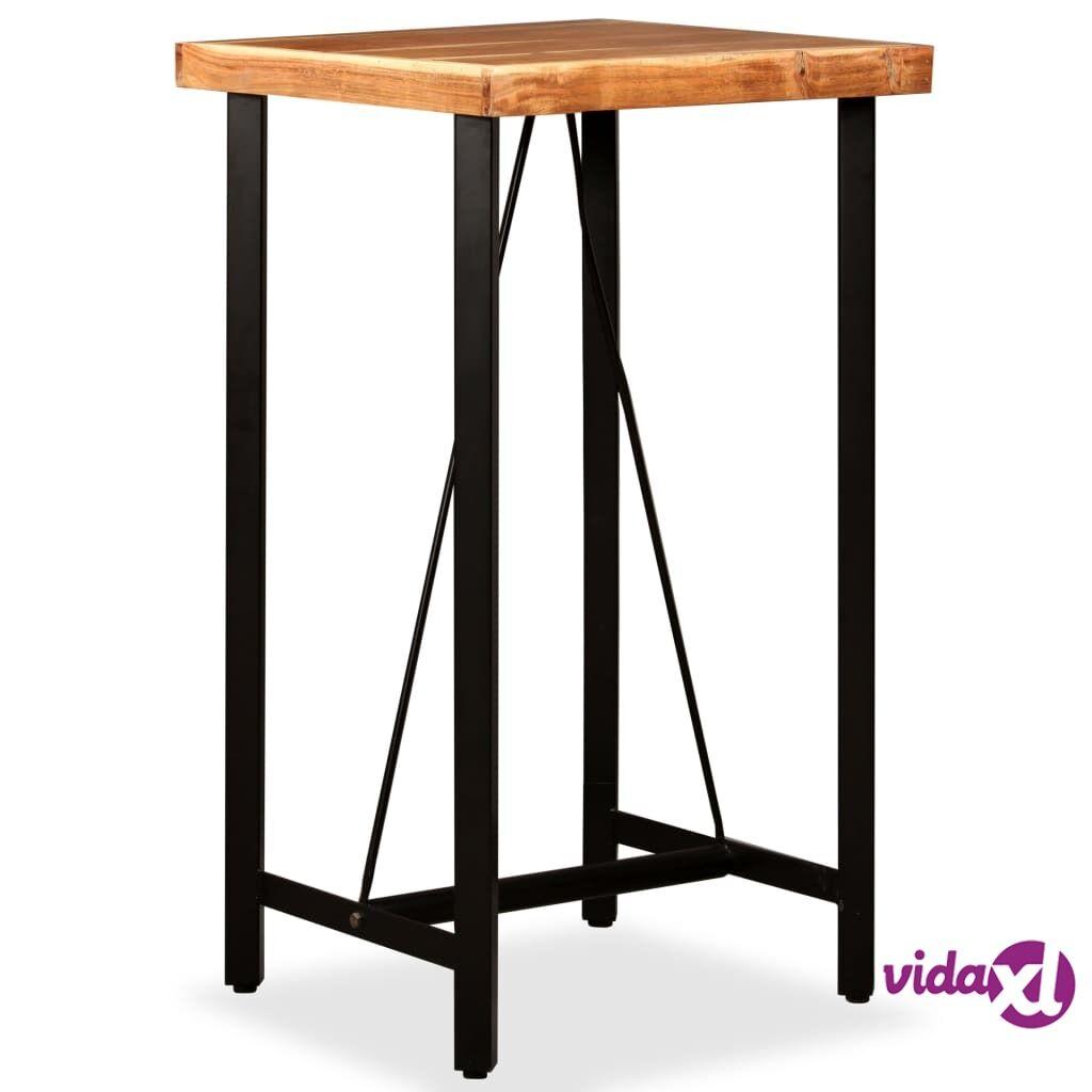 vidaXL Baaripöytä Kiinteä seesampuu 60x60x107 cm