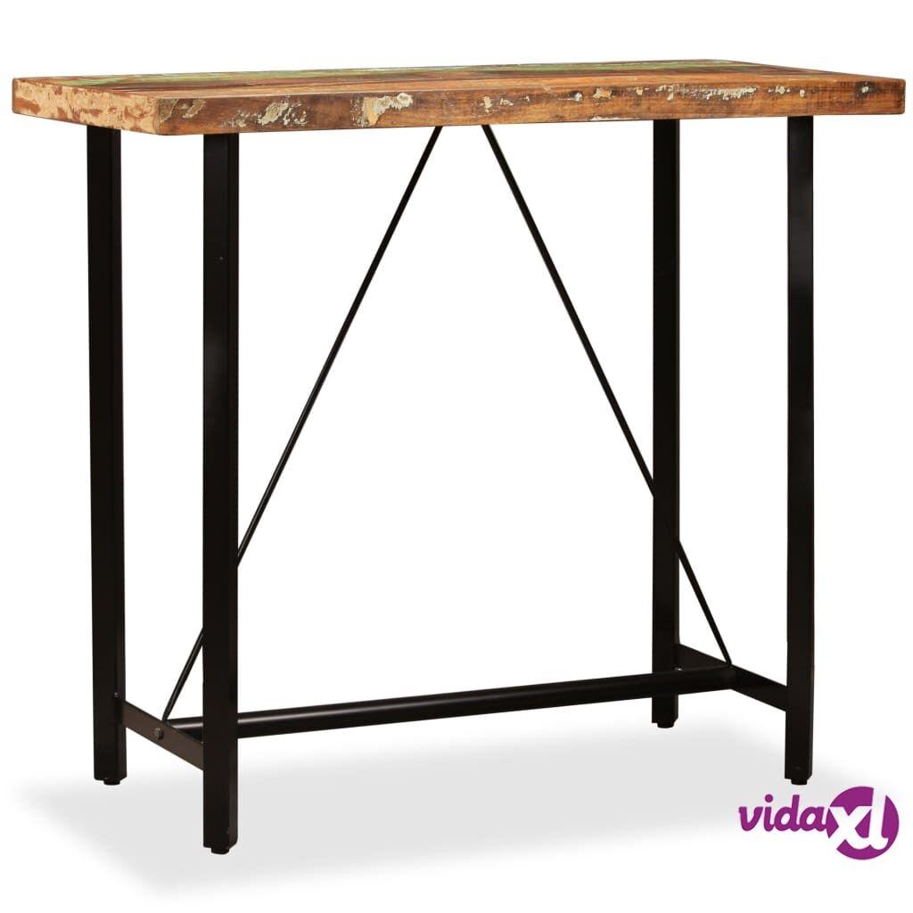 Image of vidaXL Baaripöytä kierrätetty puu 120x60x107 cm