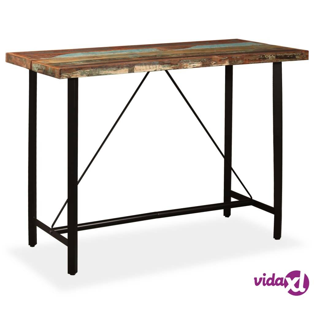 Image of vidaXL Baaripöytä kierrätetty puu 150x70x107 cm