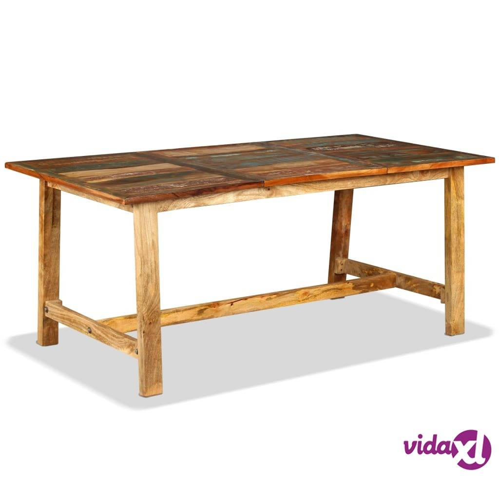 Image of vidaXL Ruokapöytä Täysi Uusiokäytetty Puu 180 cm