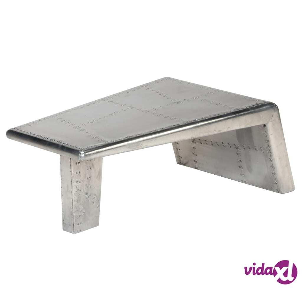 Image of vidaXL Lentäjän sohvapöytä vintage-ilmailutyyli alumiini