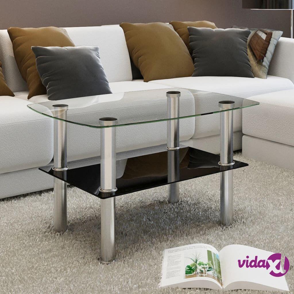 Image of vidaXL Lasinen sohvapöytä 2 tasoa