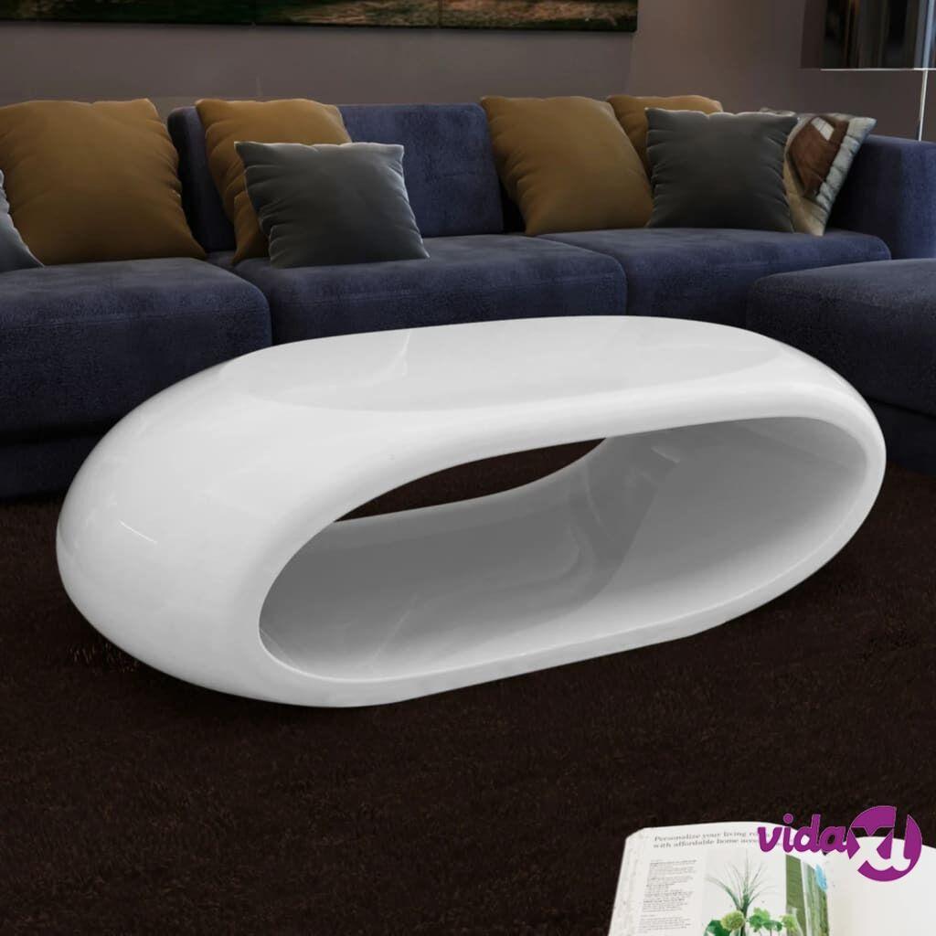 Image of vidaXL Sohvapöytä ontto malli lasikuitu korkeakiilto valkoinen