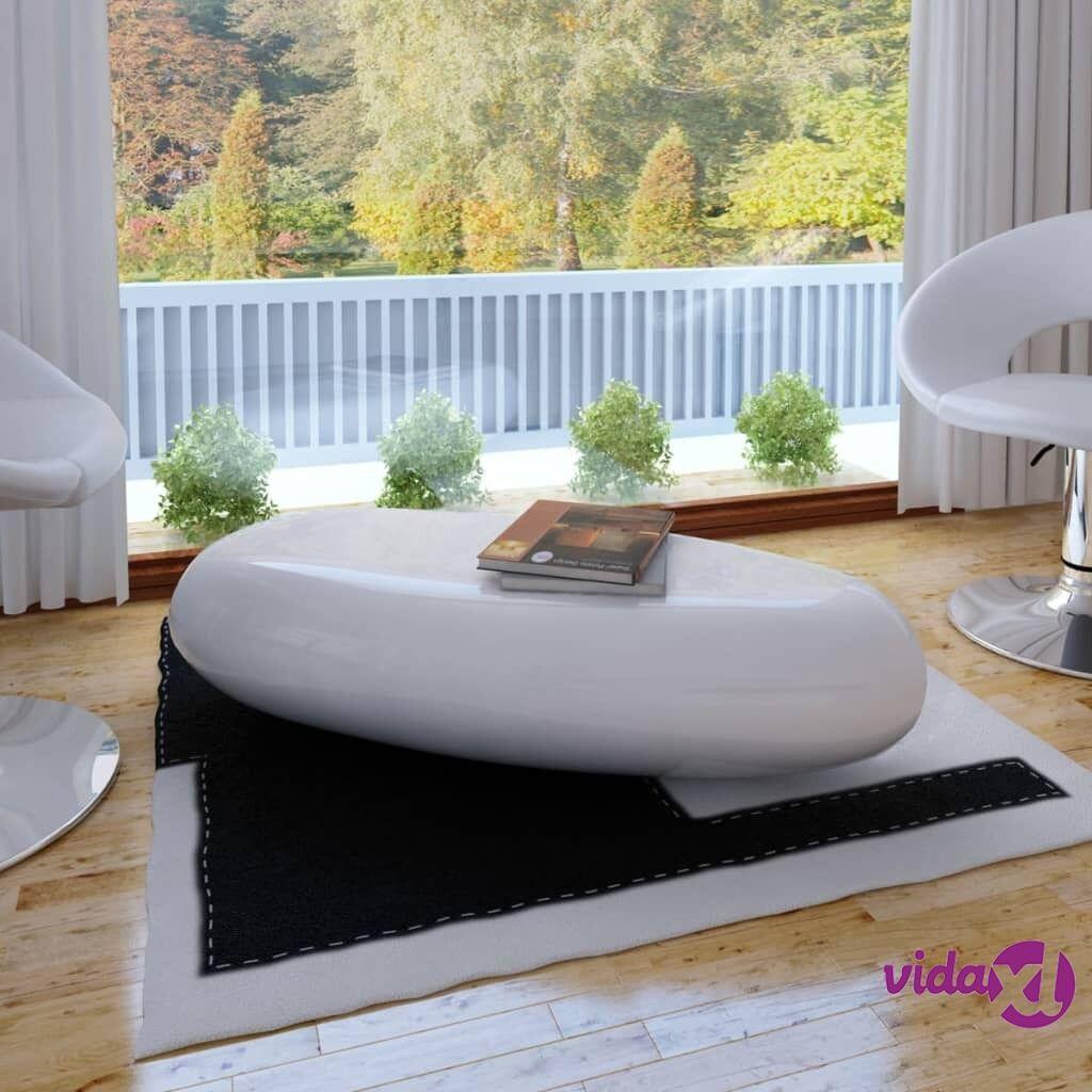 Image of vidaXL Sohvapöytä täysi Lasikuitu Korkeakiilto valkoinen