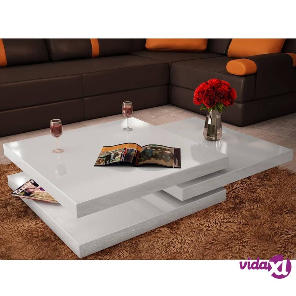 Image of vidaXL Sohvapöytä 3 tasoa Korkeakiilto valkoinen
