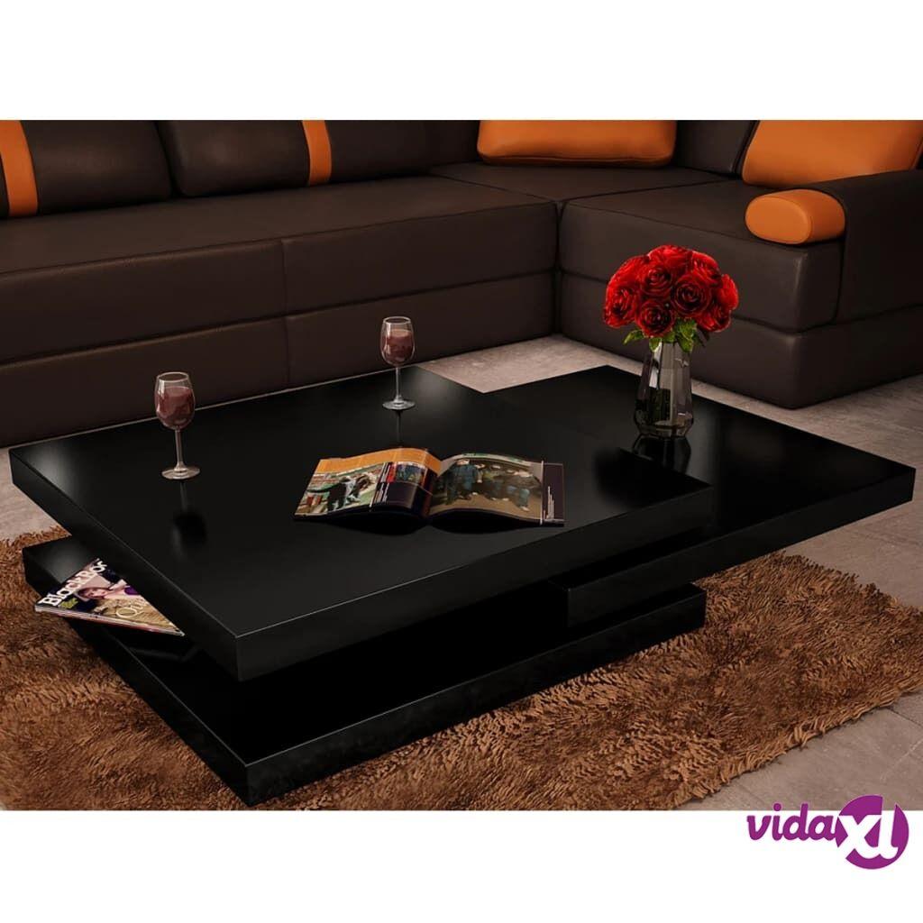 Image of vidaXL Sohvapöytä 3 tasoa Korkeakiilto musta