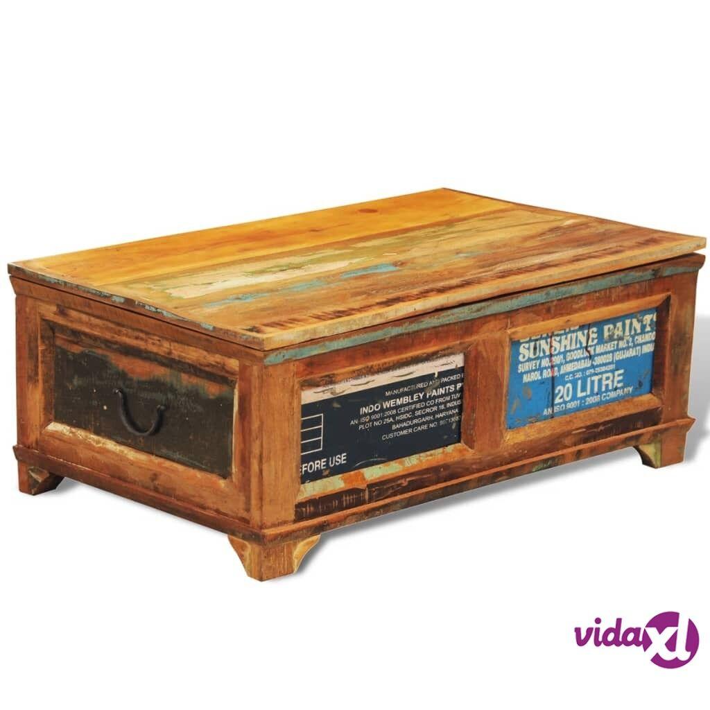 Image of vidaXL Sohvapöytä säilytysosastolla vintagetyyli Kierrätetty puu