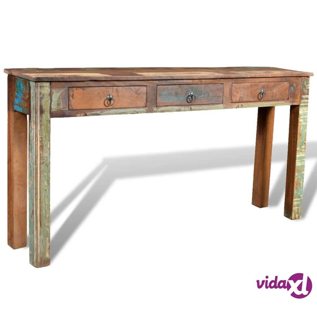 Image of vidaXL Sivupöytä 3 vetolaatikolla Kierrätetty puu